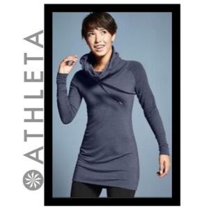 Athleta Intention Cover Up Cowl Neck Hooded Dress